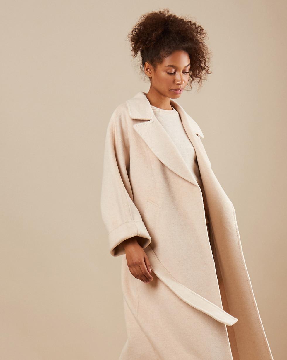 12Storeez Пальто на поясе с шелком (бежевый) SS19
