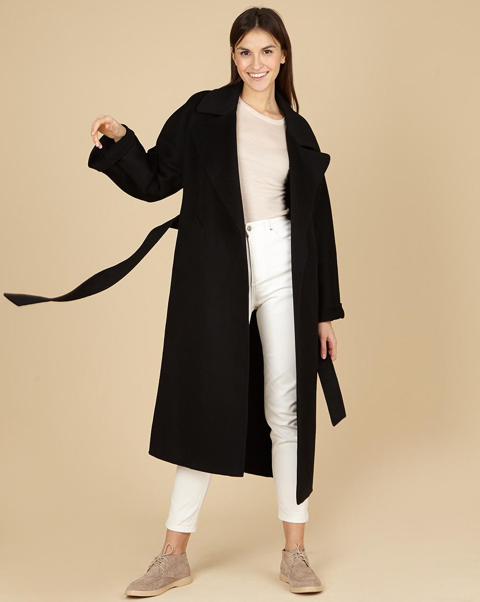12Storeez Пaльто на поясе (черный) SS19 12storeez пальто на поясе черный ss19
