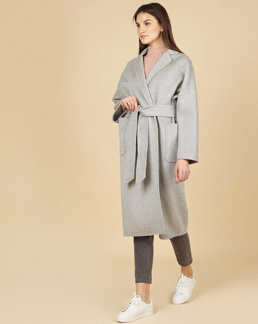 12Storeez Пальто-халат с шелком (светло-серый) SS19 12storeez пальто на поясе черный ss19