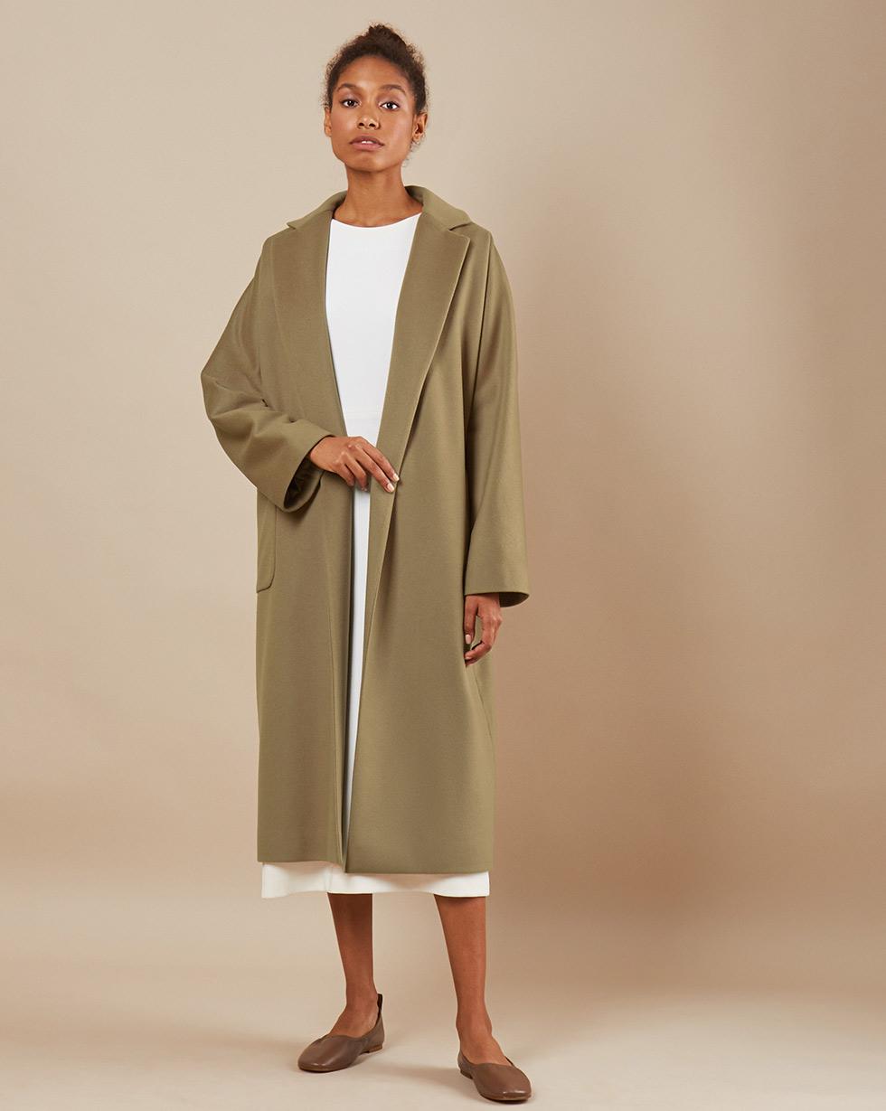 12Storeez Пальто-халат на подкладке с поясом (бежевый) 12storeez пальто халат из кашемира желтый
