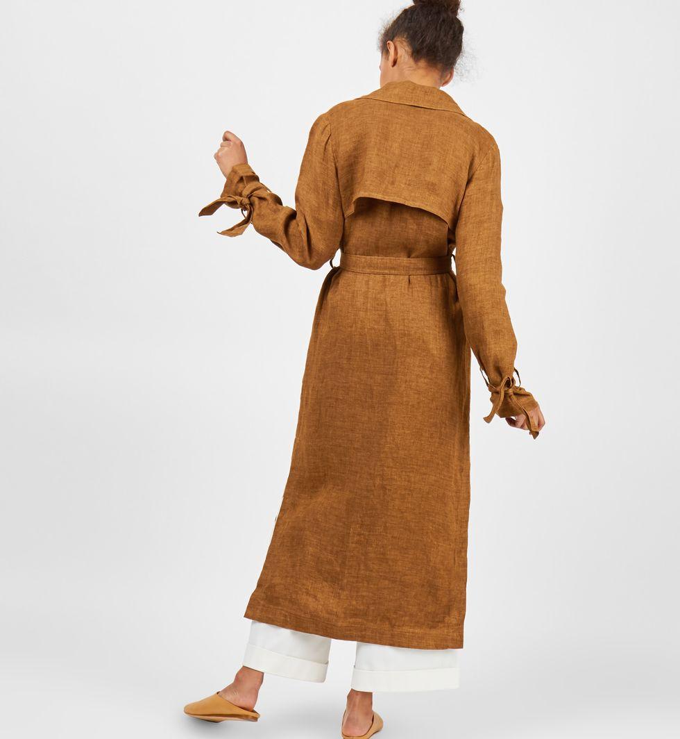 Плащ льняной Sверхняя одежда<br><br><br>Артикул: 7995846<br>Размер: S<br>Цвет: Горчичный<br>Новинка: НЕТ<br>Наименование en: Linen trench coat