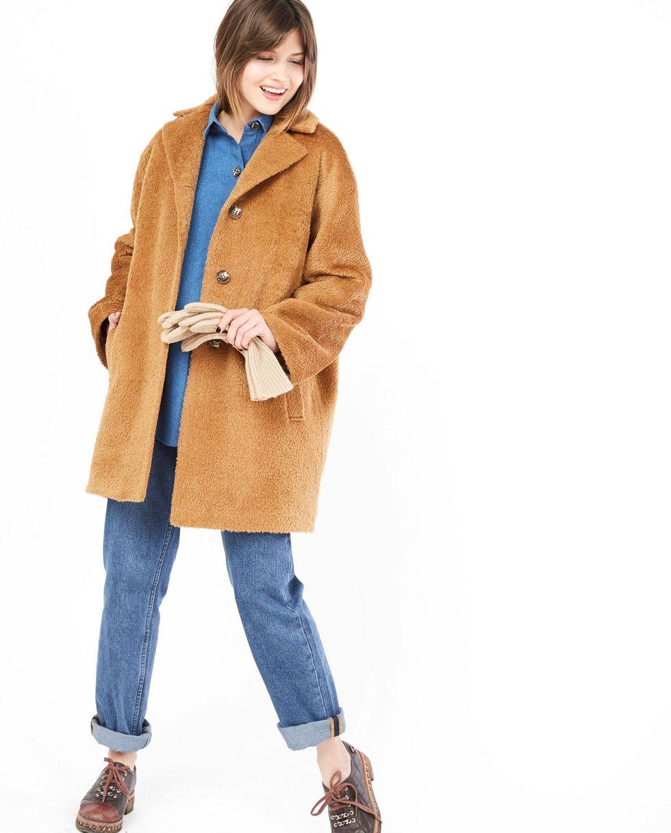 Пальто укороченное «Чебурашка» Sверхняя одежда<br><br><br>Артикул: 7997396<br>Размер: S<br>Цвет: Кэмел<br>Новинка: НЕТ<br>Наименование en: Faux fur jacket