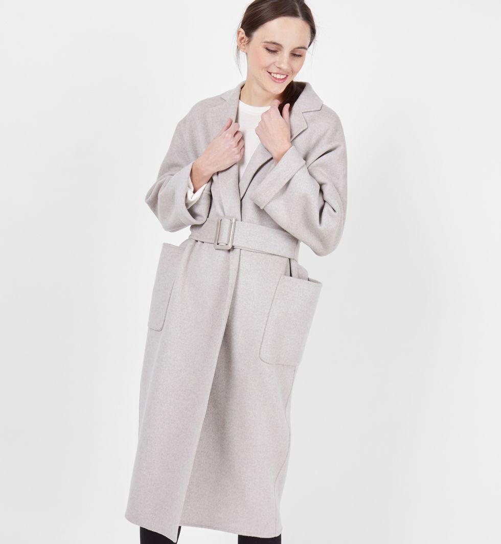 12Storeez Пальто-халат (светло-серое)