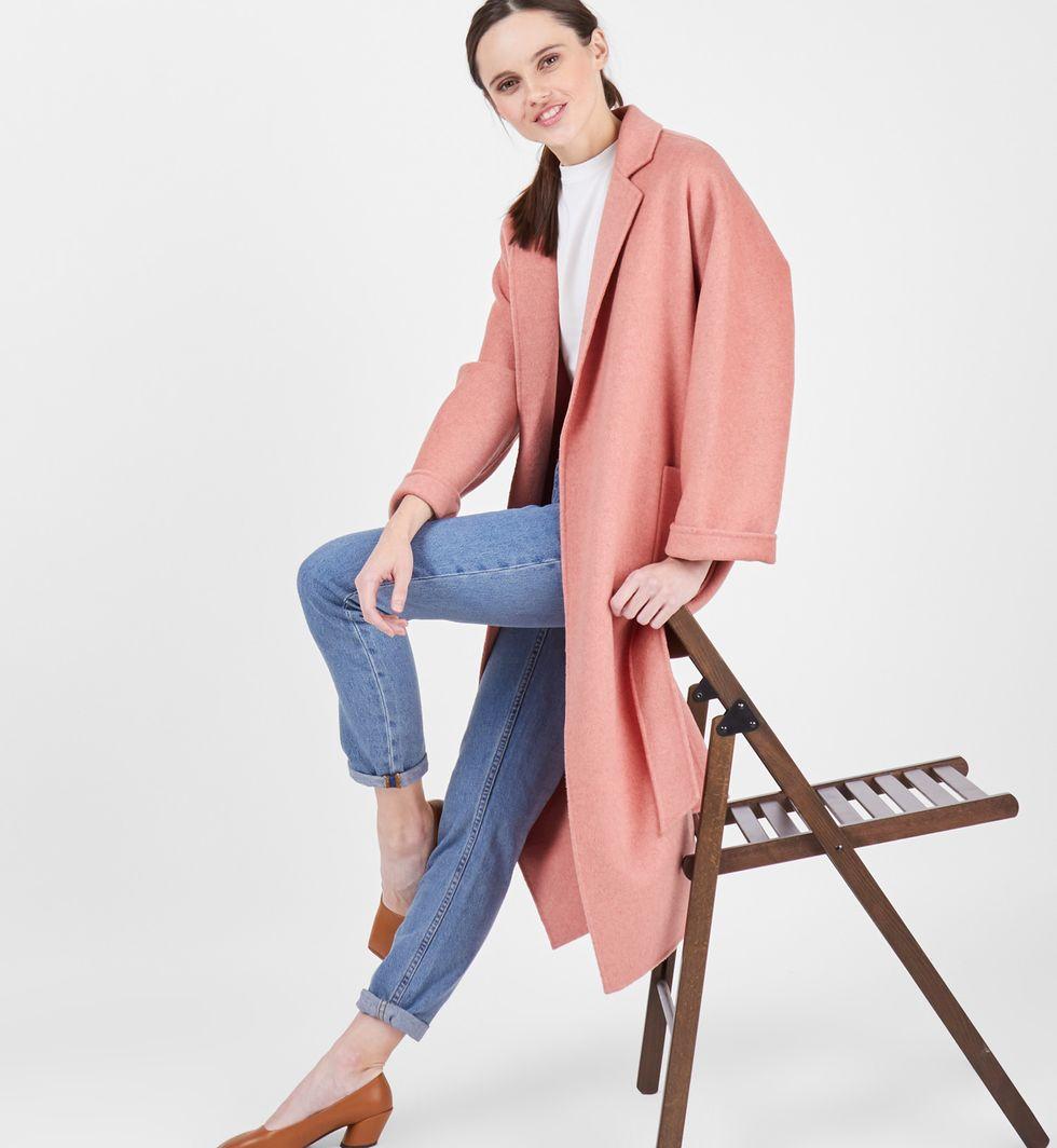 Пальто-халат One sizeВерхняя одежда<br><br><br>Артикул: 7997950<br>Размер: One size<br>Цвет: Персиковый<br>Новинка: НЕТ<br>Наименование en: Belted robe coat