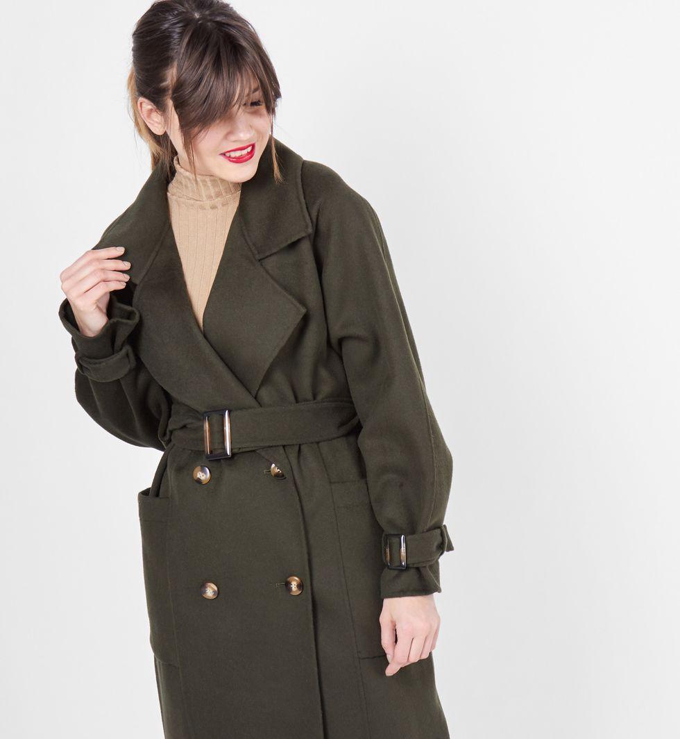 12Storeez Пальто-тренч (темно-зеленое)