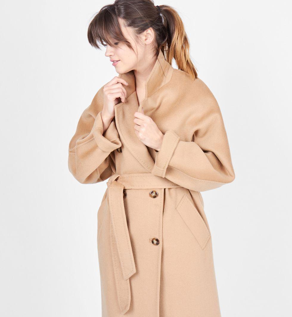 12Storeez Пальто двубортное на поясе (кэмел) 2017 12storeez пальто двубортное на поясе черное