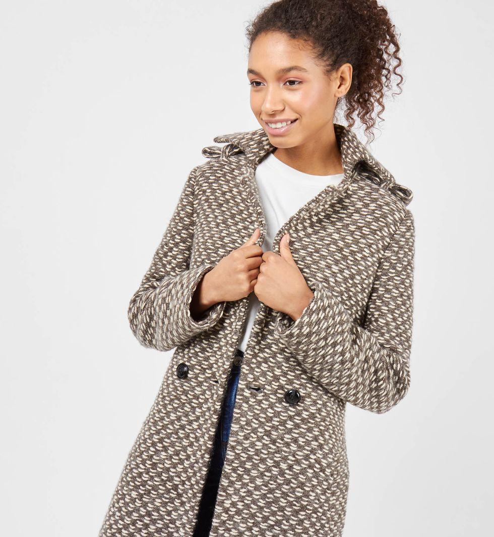 12Storeez Пальто из трикотажа (коричневое) 12storeez пальто утепленное коричневый