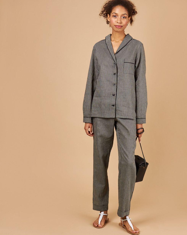 12Storeez Комплект: рубашка с брюками в полоску (черный) 12storeez комплект рубашка с брюками в полоску синий