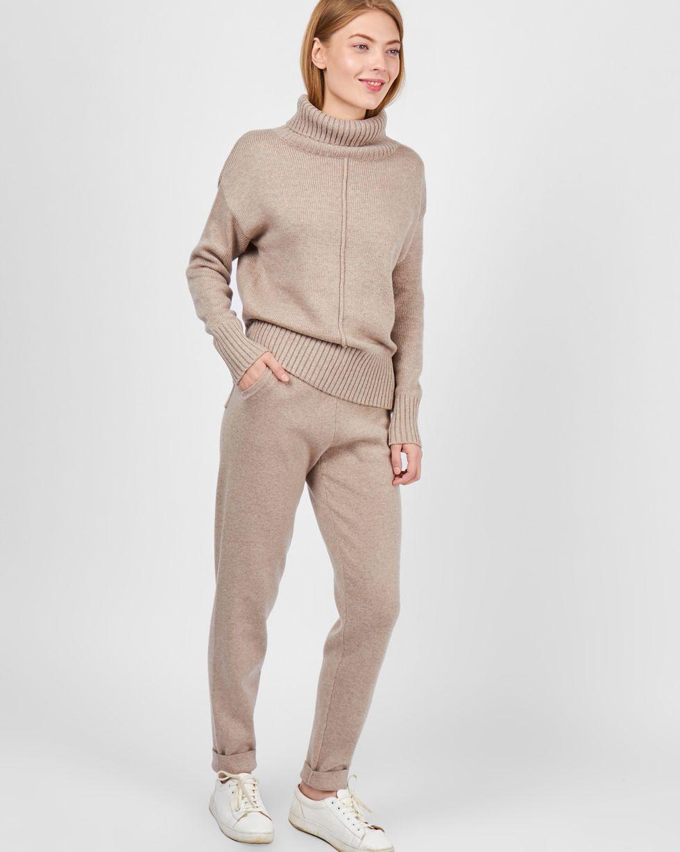12Storeez Костюм: Свитер с зауженными брюками (кофейный)