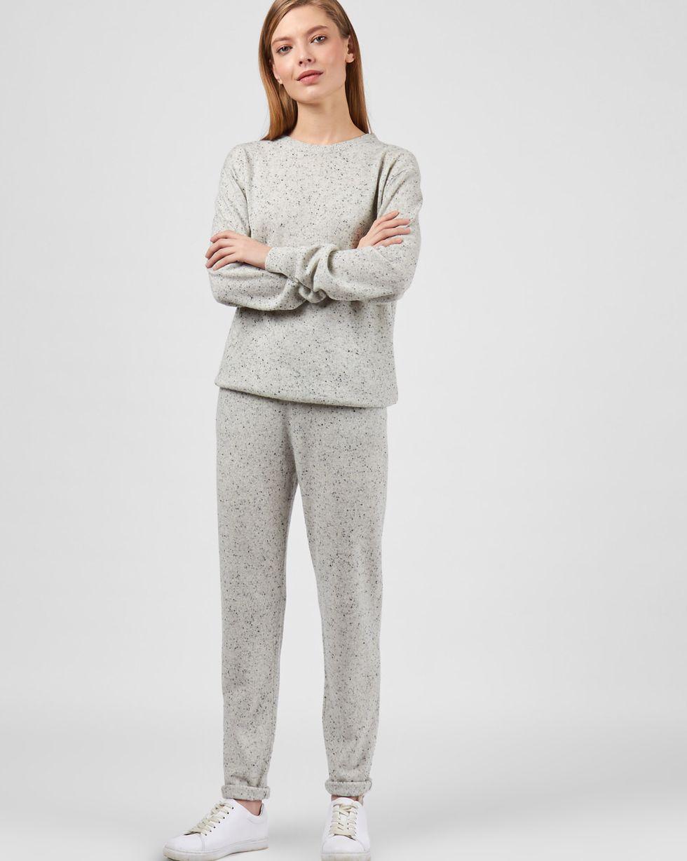 Костюм: свитер и брюки на завязках SКомплекты<br><br><br>Артикул: 7011102<br>Размер: S<br>Цвет: Серый<br>Новинка: НЕТ<br>Наименование en: Crew neck sweater and trousers co-ord set