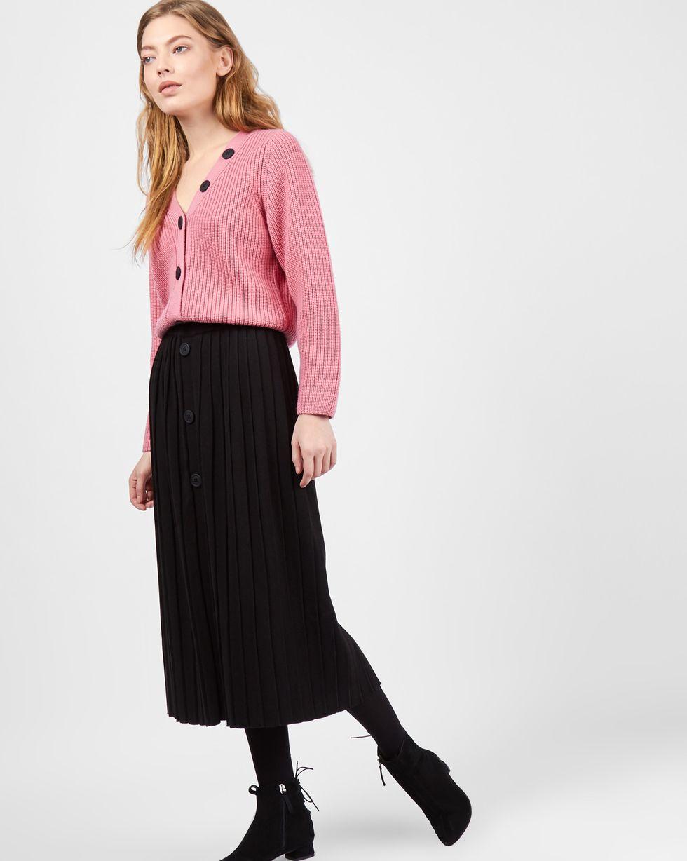 Фото #1: Комплект: кардиган и плиссированная юбка S