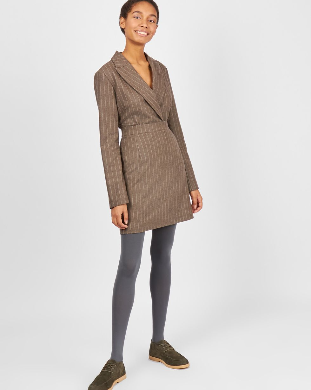 12Storeez Комплект: Жакет облегченный и юбка мини (коричневый) 12storeez комплект жакет облегченный и юбка мини коричневый