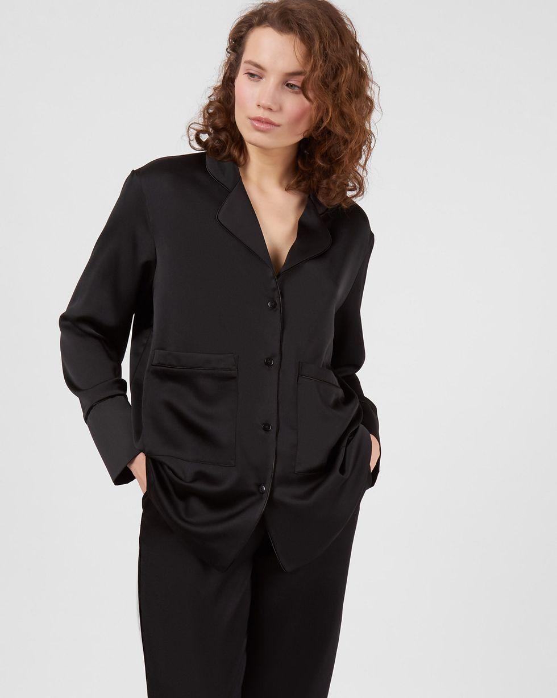 12Storeez Комплект: рубашка и брюки с кантом (черный) 12storeez брюки кожaные черный
