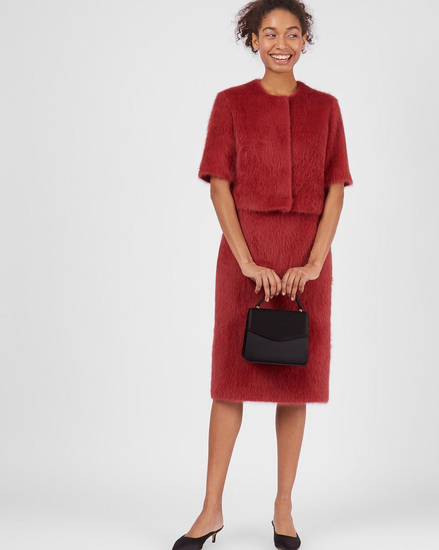 Комплект: Топ укороченный и юбка миди из ангоры SКомплекты<br><br><br>Артикул: 7012839<br>Размер: S<br>Цвет: Бордовый<br>Новинка: НЕТ<br>Наименование en: Angora top and midi skirt two-piece set