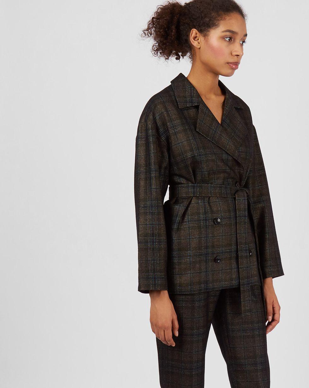 12Storeez Костюм: Жакет двубортный и брюки с защипами (кофе) 12storeez костюм жакет двубортный и брюки коричневый меланж