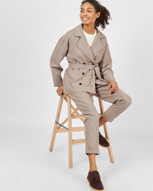 12Storeez Костюм: Жакет двубортный и брюки (кофейный) 12storeez костюм жакет двубортный и брюки коричневый меланж