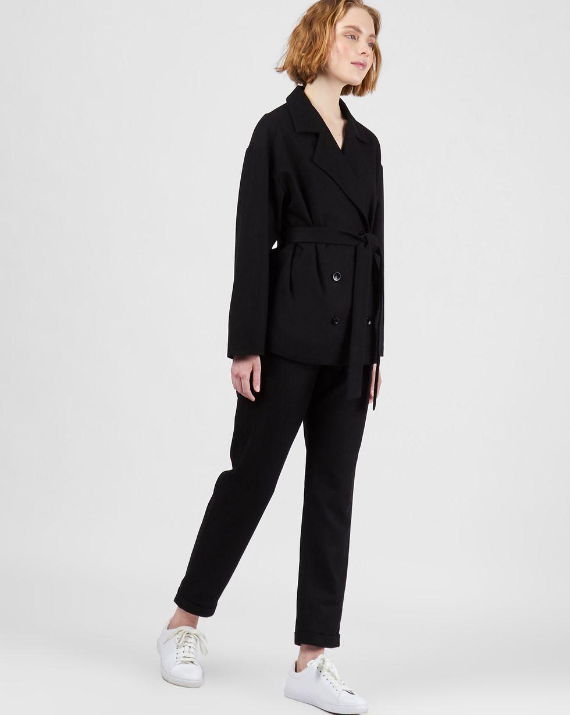 12Storeez Костюм: Жакет двубортный и брюки (черный) 12storeez костюм жакет двубортный и брюки коричневый меланж