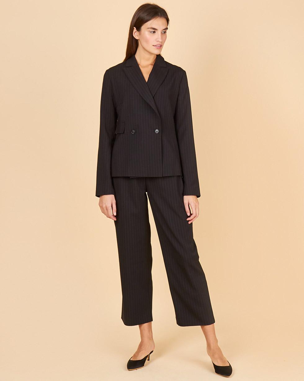 12Storeez Костюм: Жакет облегченный и брюки (черный в полоску)