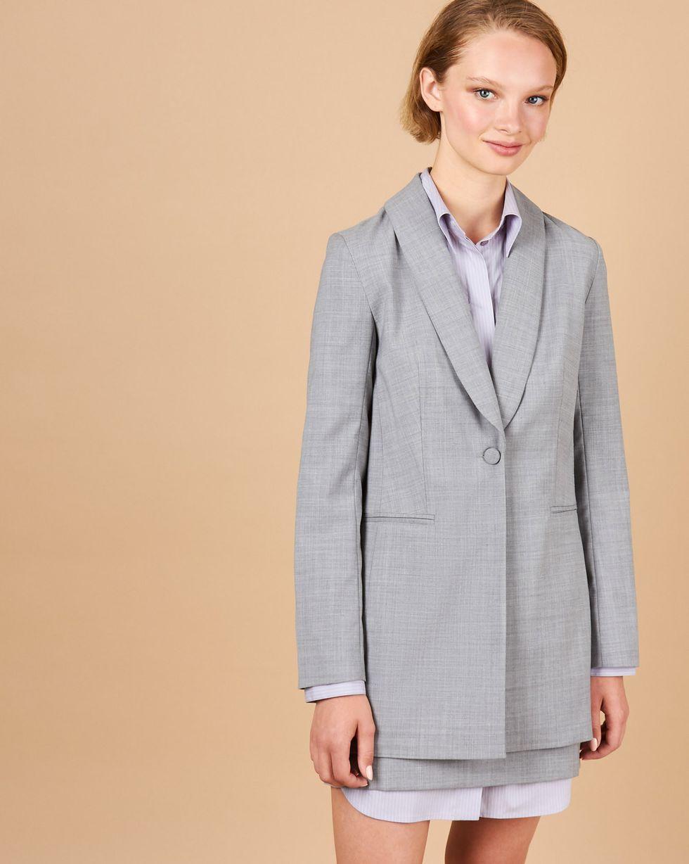 Купить со скидкой Костюм: Пиджак объемный с юбкой мини M