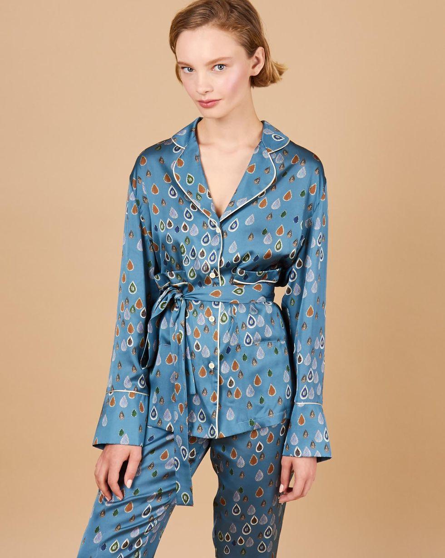 12Storeez Комплект: Рубашка с брюками (темно-бирюзовый) 12storeez комплект рубашка с брюками в полоску синий