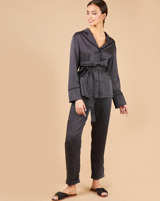 12Storeez Комплект: Рубашка с брюками (черный в горох)