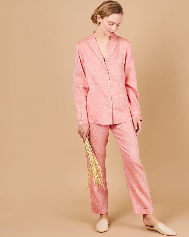Фото - 12Storeez Комплект: Рубашка с брюками изо льна (красный) 12storeez комплект рубашка с брюками изо льна коричневый