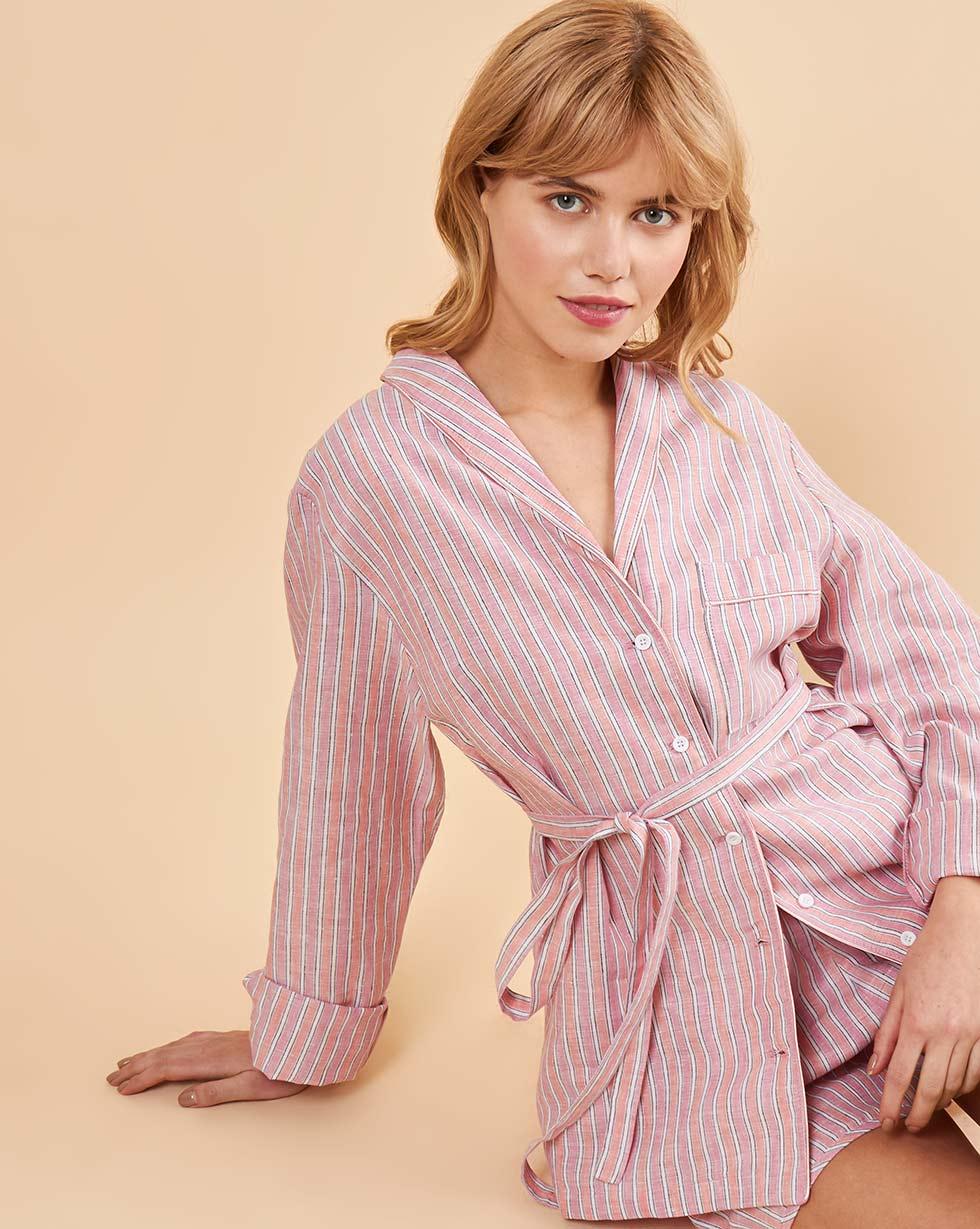 12Storeez Комплект: Рубашка с шортами изо льна (розовый) 12storeez комплект рубашка с шортами изо льна песочный
