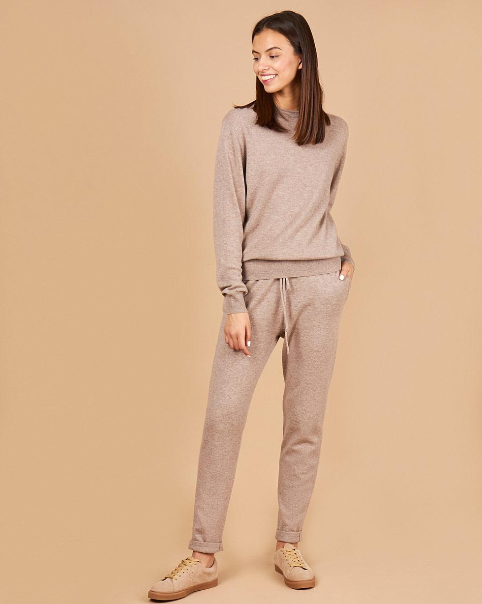 12Storeez Костюм: свитер и брюки на завязках (кофейный) FW18 12storeez костюм свитер и брюки на завязках серый fw18