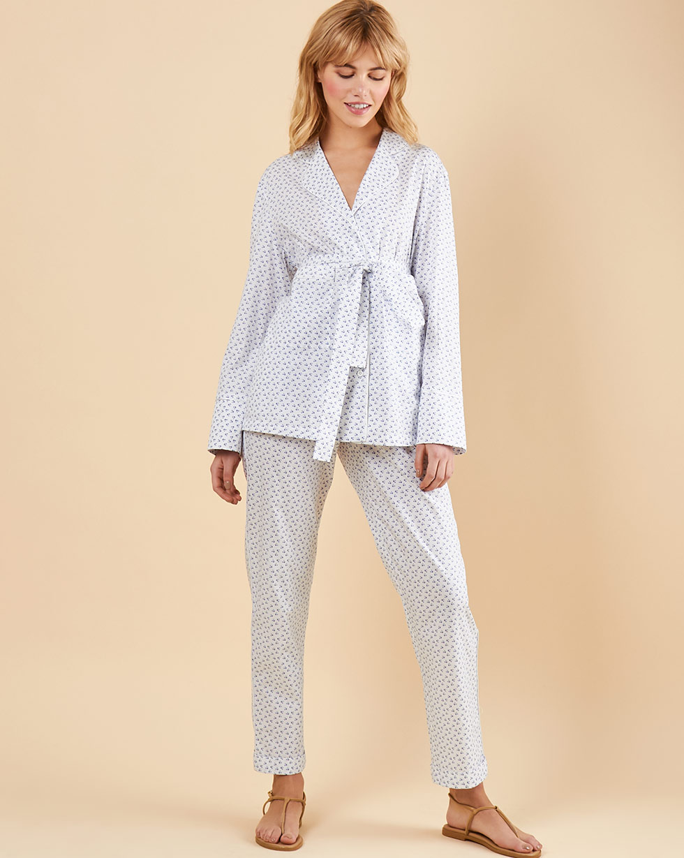 12Storeez Комплект: Рубашка с брюками (белый в цветок) 12storeez комплект рубашка с брюками в полоску синий