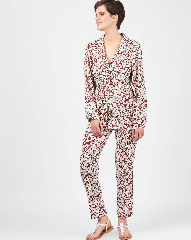 12Storeez Комплект: рубашка и брюки зерна кофе (бордовый) анна бялко обман