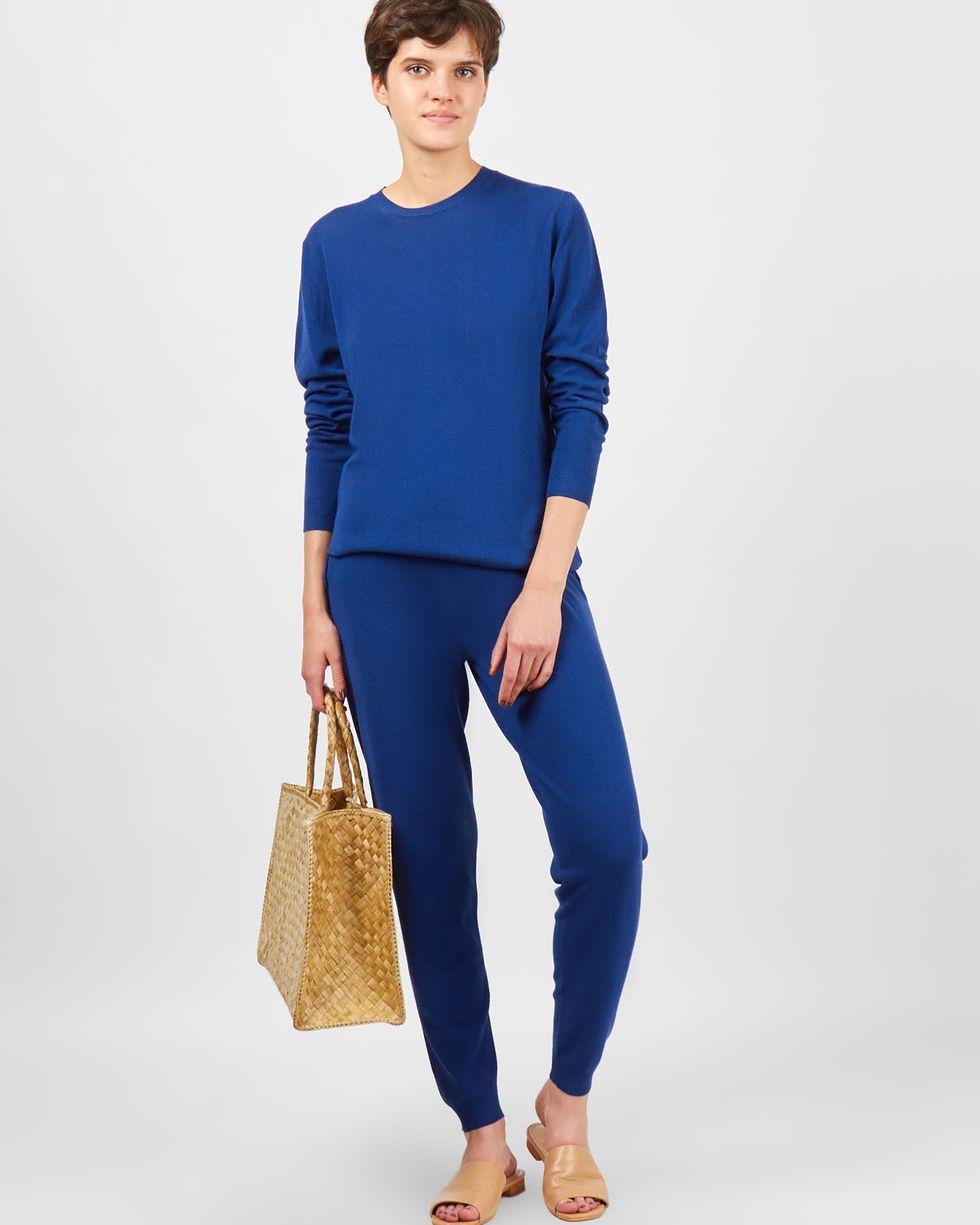 Фото - 12Storeez Костюм: джемпер и брюки с карманами (темно-синий) 12storeez костюм кардиган и брюки тонкой вязки темно серый