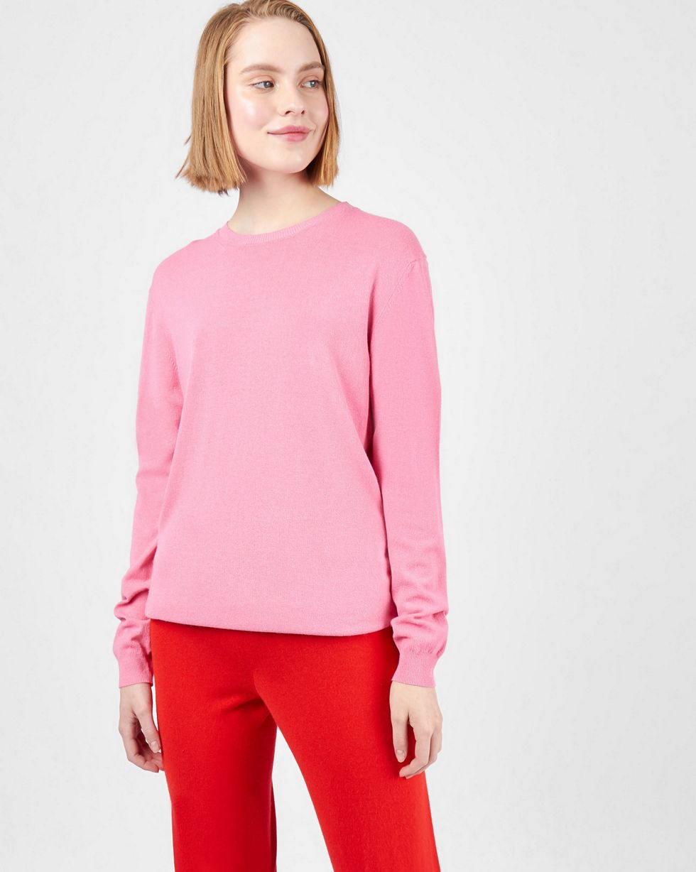 Фото - 12Storeez Костюм: джемпер и брюки с карманами (розовый/красный) 12storeez костюм кардиган и брюки тонкой вязки темно серый