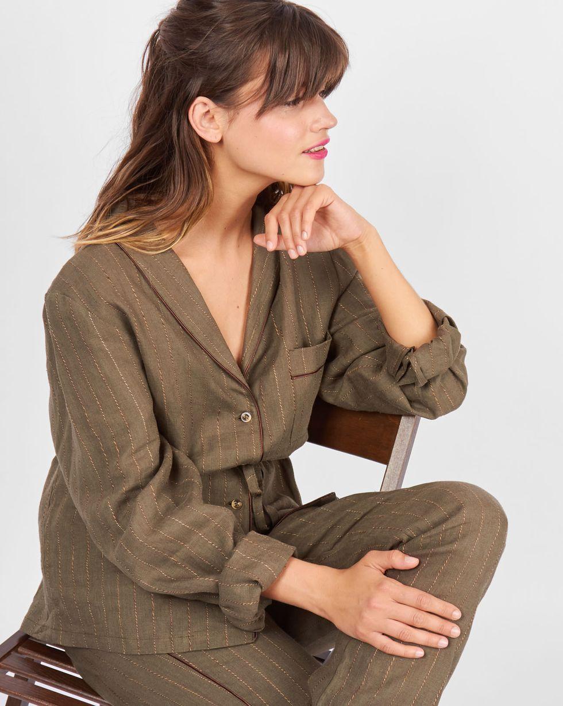 Комплект: рубашка с брюками изо льна MКомплекты<br><br><br>Артикул: 709895<br>Размер: M<br>Цвет: Зеленый<br>Новинка: НЕТ<br>Наименование en: Linen shirt and trousers co-ord