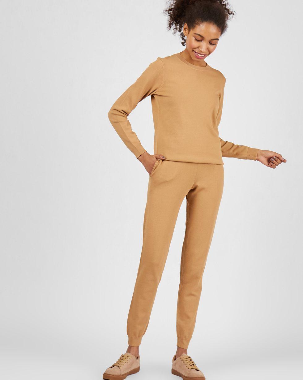 12Storeez Костюм: джемпер и брюки с карманами (бежевый) SS2018 12storeez костюм джемпер и брюки с карманами сиреневый