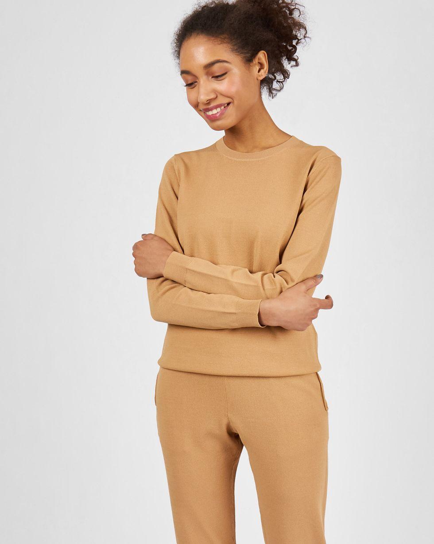 Костюм: джемпер и брюки с карманами SКомплекты<br><br><br>Артикул: 84412852<br>Размер: S<br>Цвет: Бежевый<br>Новинка: ДА<br>Наименование en: Fine knit jumper and joggers co-ord