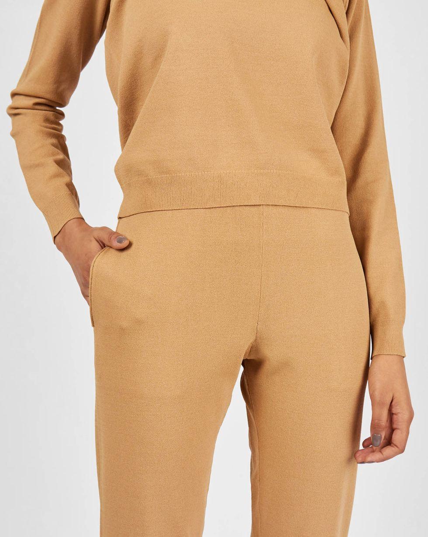 12Storeez Костюм: джемпер и брюки с карманами (бежевый)