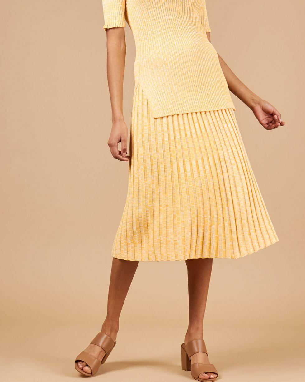 12Storeez Костюм: джемпер с юбкой (меланж желтый/белый) 12storeez удлиненный джемпер с коротким рукавом светло желтый