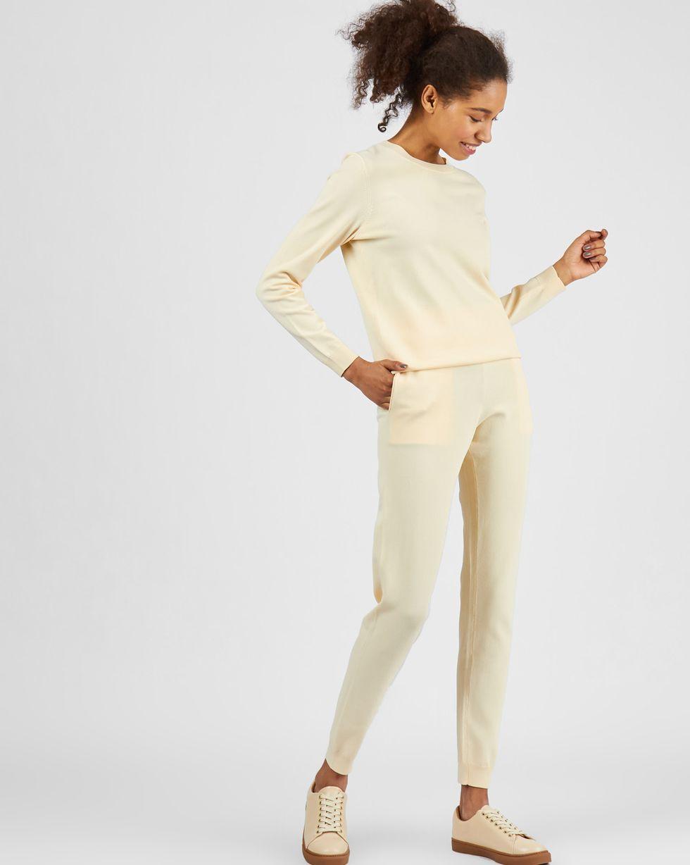 12Storeez Костюм: джемпер и брюки с карманами (молочный) 12storeez костюм джемпер и брюки с карманами сиреневый