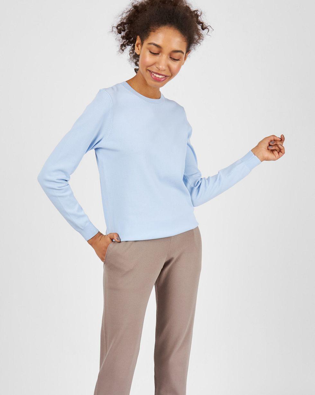 12Storeez Костюм: джемпер и брюки с карманами (голубой/кофейный)