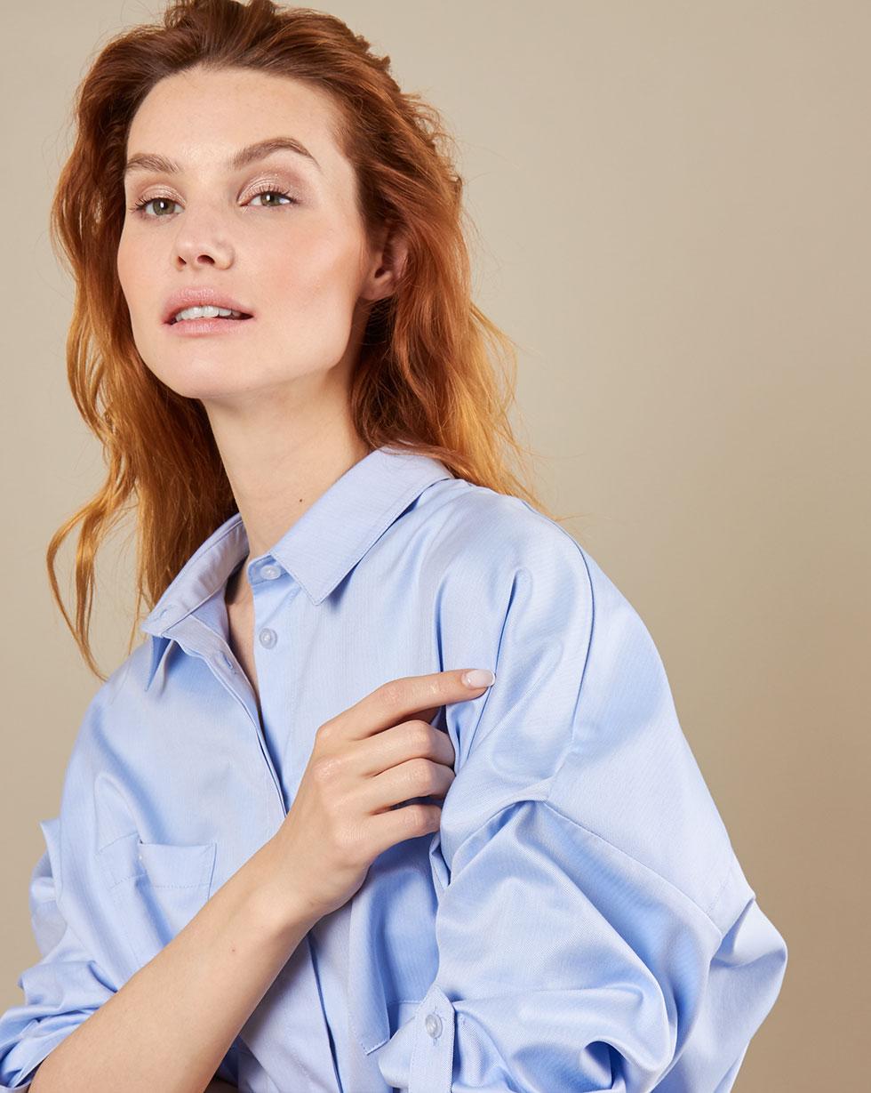 12Storeez Рубашка BL6565-003 (Голубой)