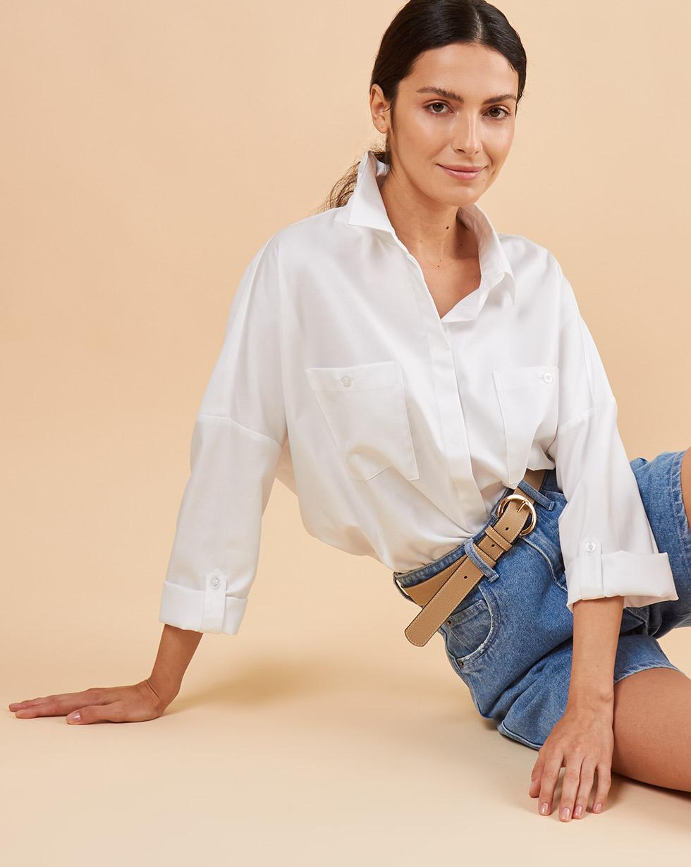 12Storeez Рубашка BL6565-003 (Белый)