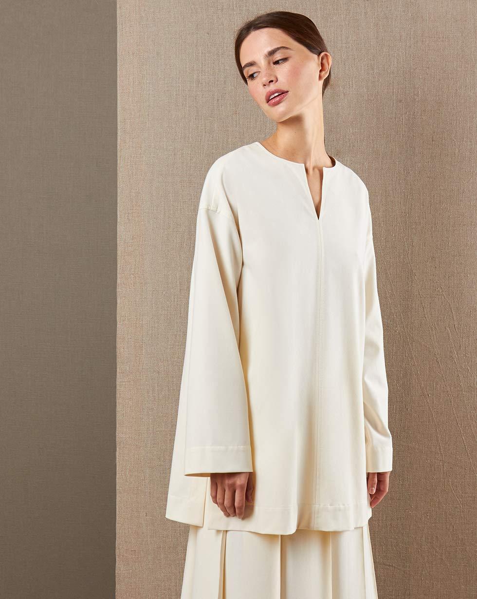 цена 12Storeez Блуза широкая с отстрочками онлайн в 2017 году