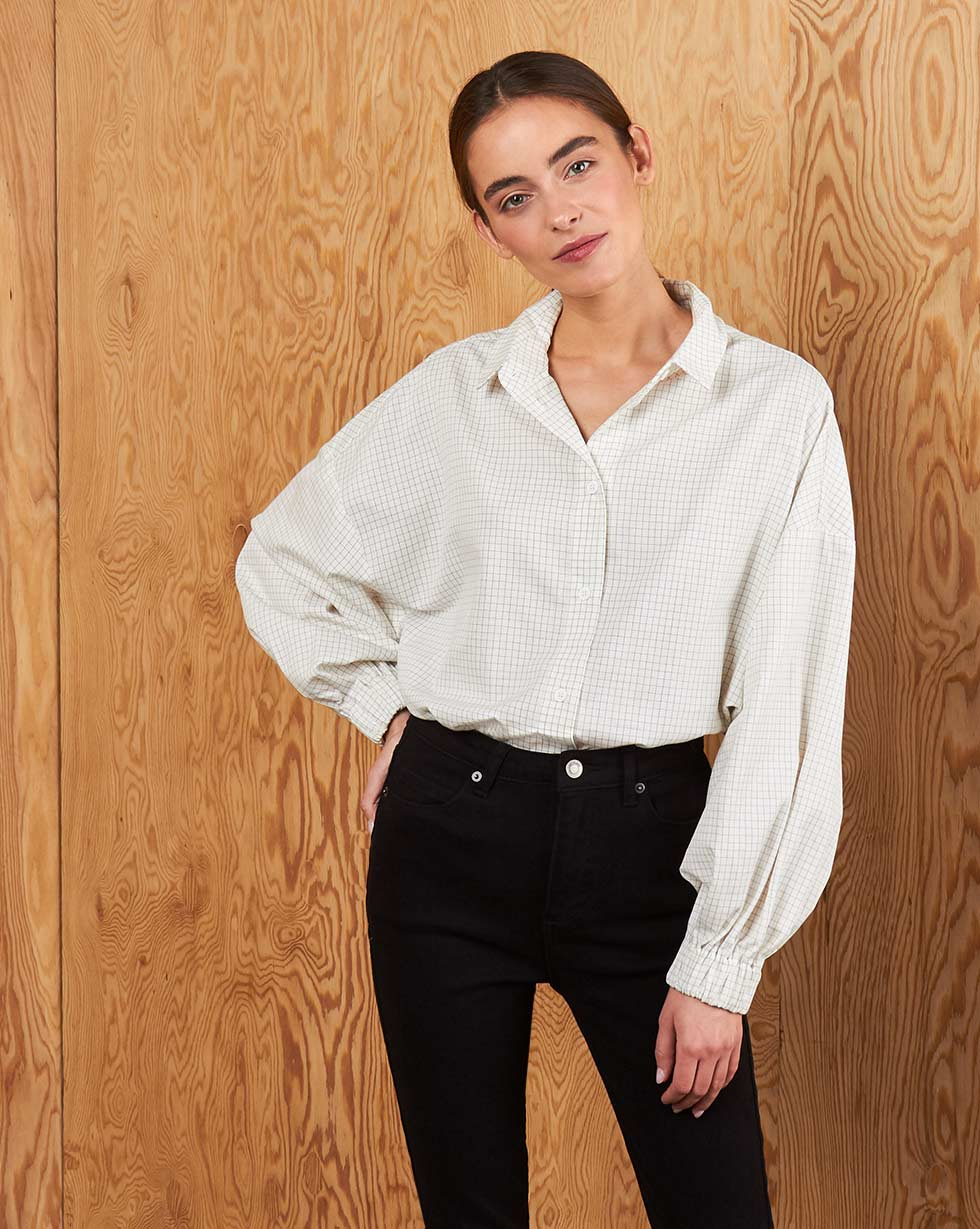 12Storeez Рубашка BL65-021 (Молочный) 12storeez рубашка bl65 021 серый1