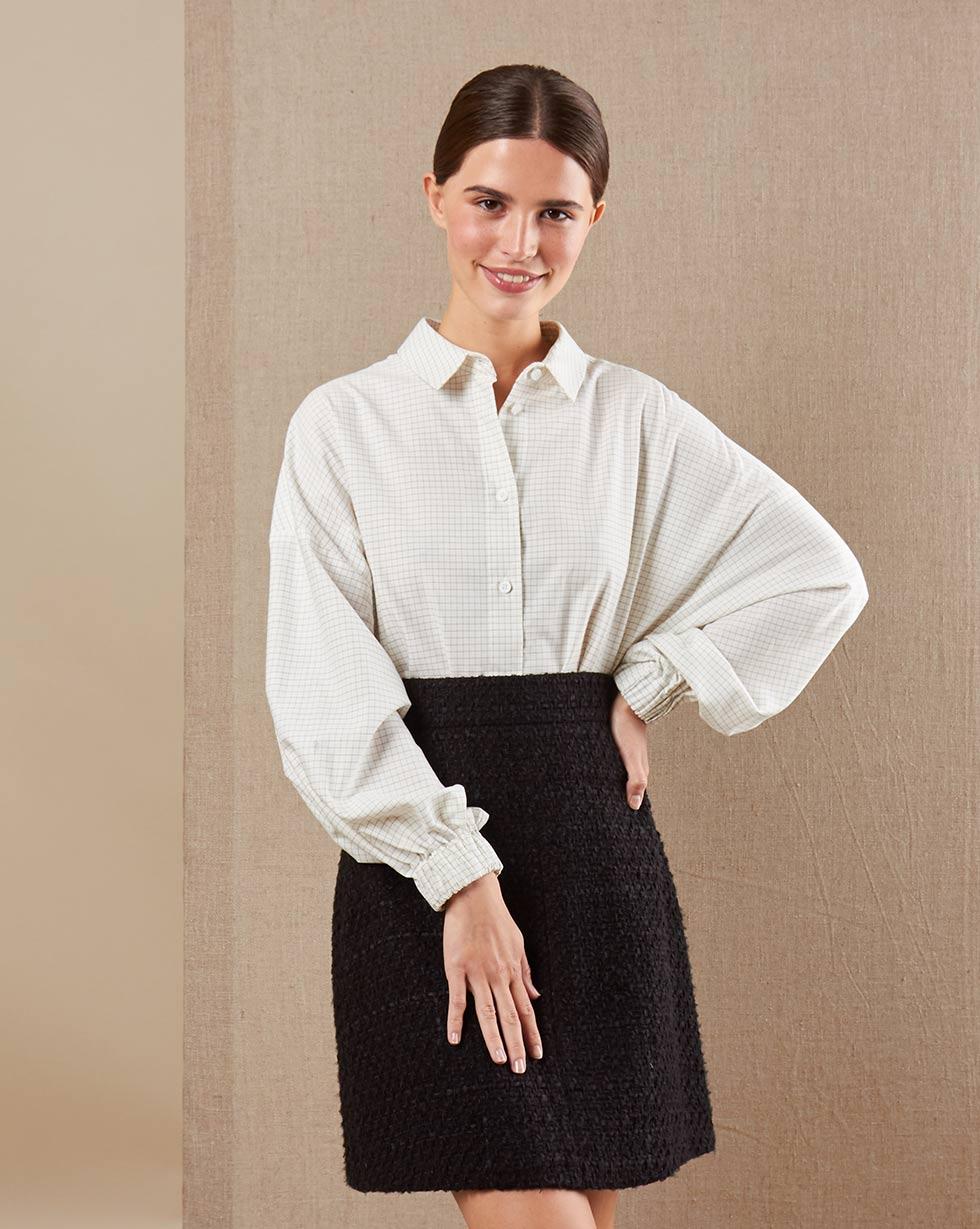 12Storeez Рубашка BL65-021 (Молочный)
