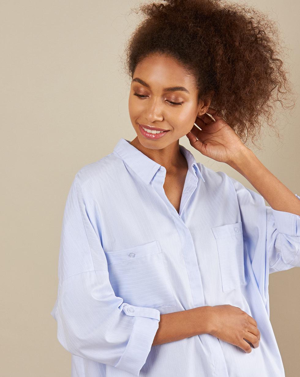 12Storeez Рубашка BL65-023 (Гoлубой )