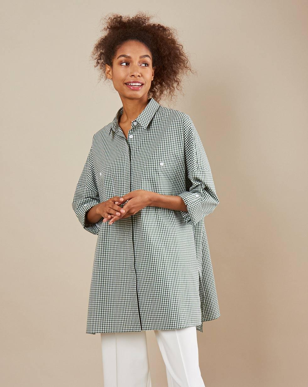 12Storeez Рубашка BL65-023 (Зеленый)