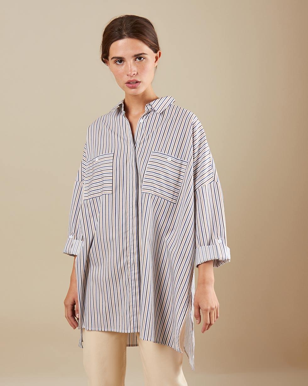 12Storeez Рубашка BL65/023 (Бежевый)