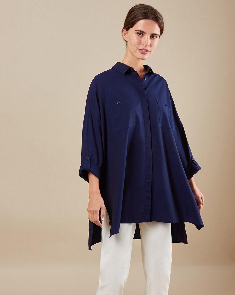 12Storeez Рубашка BL65-023 (Синий)