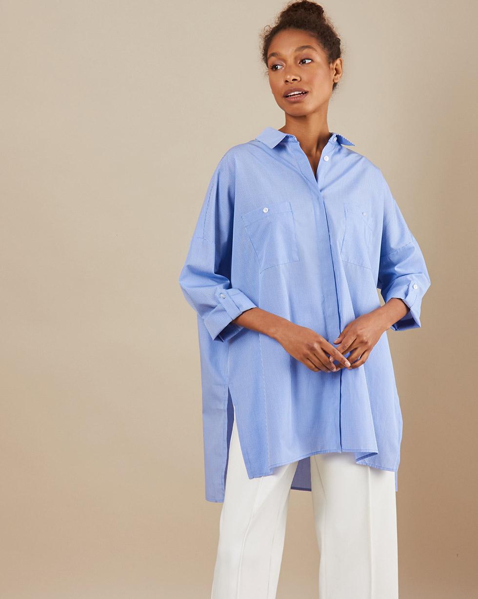 12Storeez Рубашка BL65-023 (Голубой) 12storeez рубашка в мужском стиле из хлопка голубой