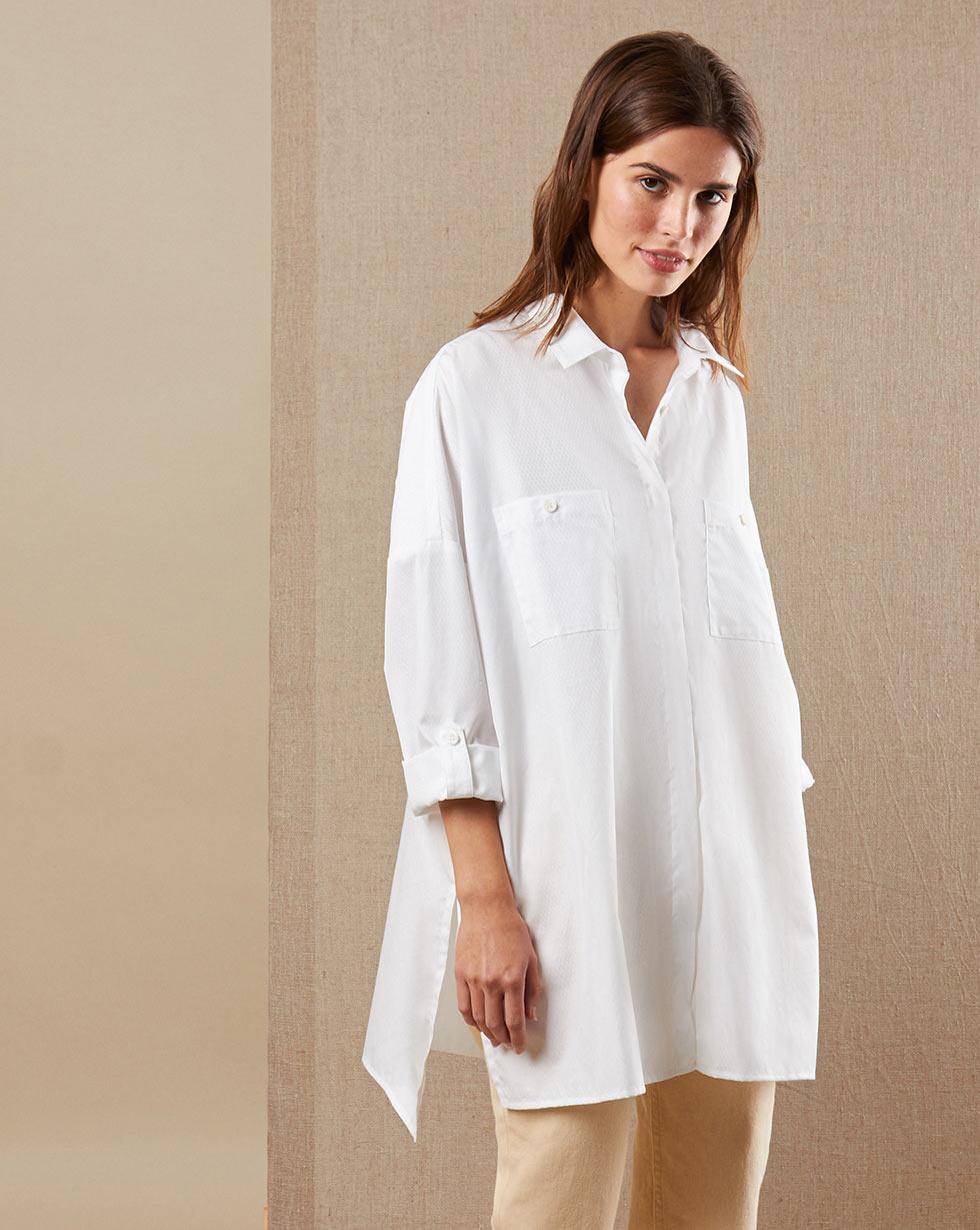 12Storeez Рубашка BL65-023 (Белый в ромб)